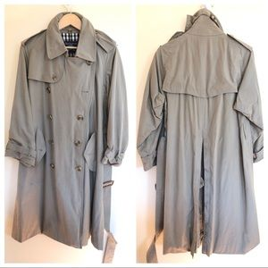 Burberry's cotton long trench coat with belt